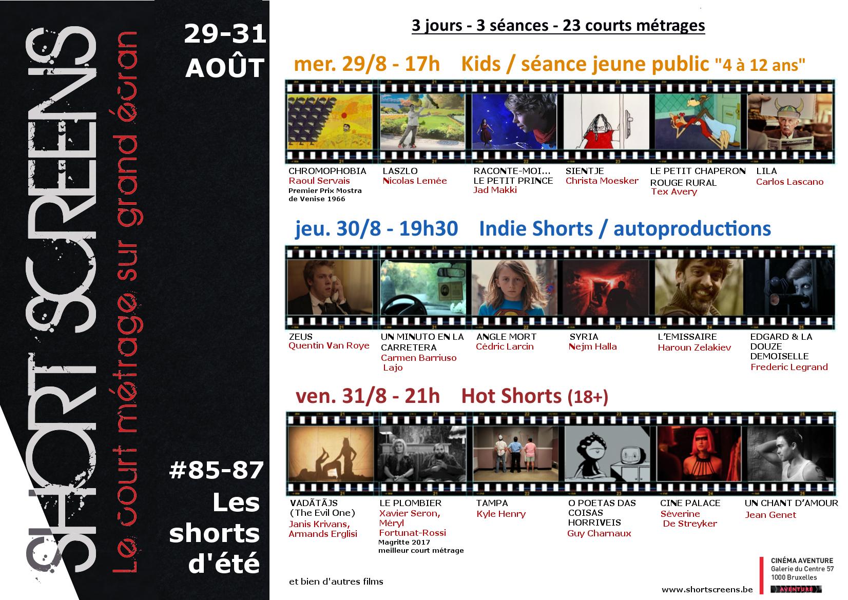 A3- 85-86-87 les shorts d'été