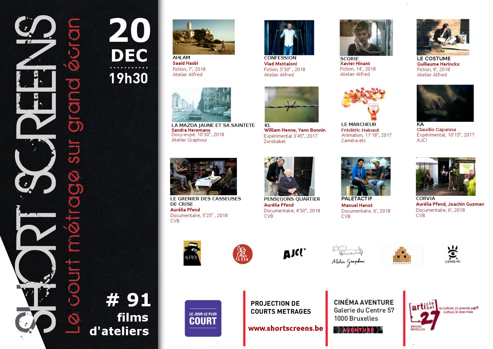 A3- 91 Jour le plus court films d'ateliers