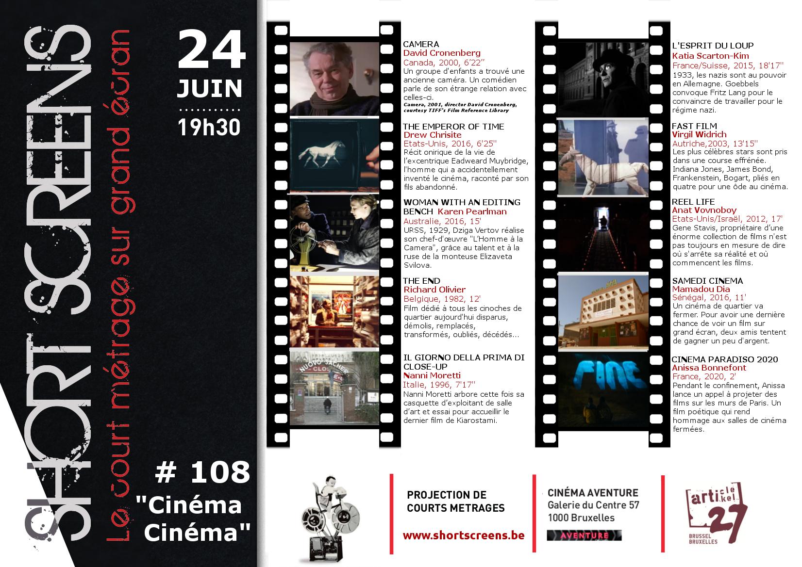A3 # 108 Cinéma Cinéma